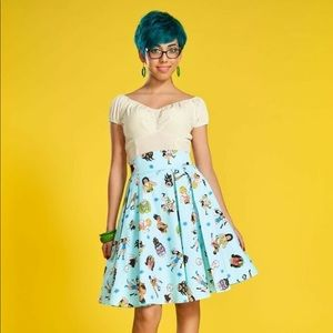 Laura Byrnes Pinup Couture lady wrestlers skirt